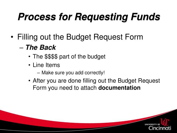 Process for Requesting Funds