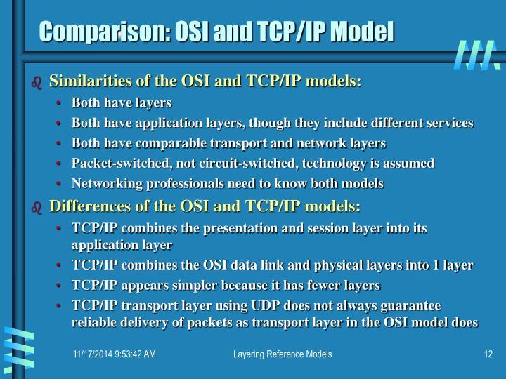 Comparison: OSI and TCP/IP Model