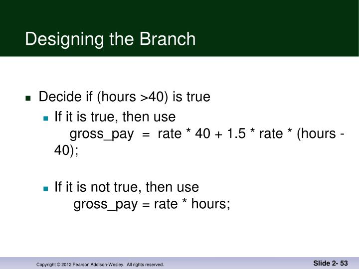 Designing the Branch