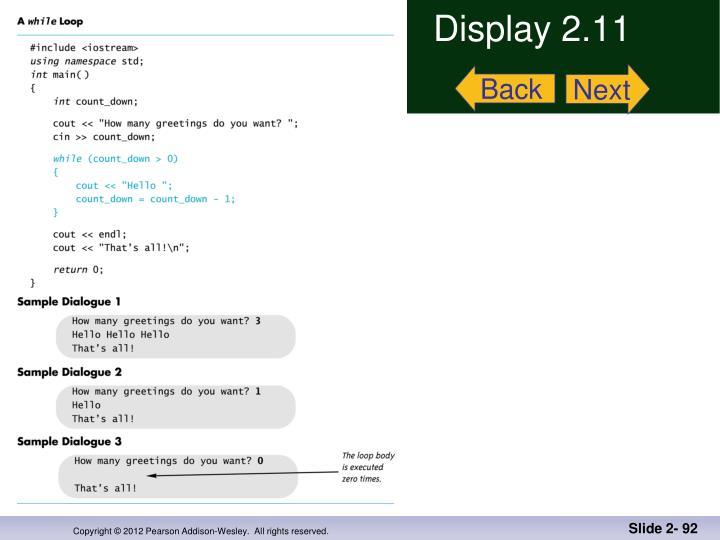 Display 2.11