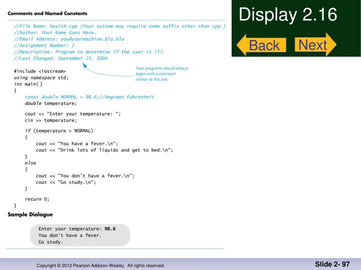 Display 2.16