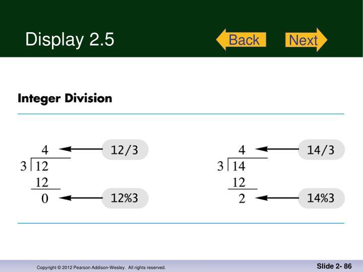 Display 2.5