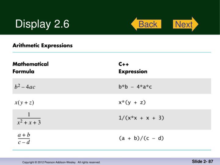 Display 2.6