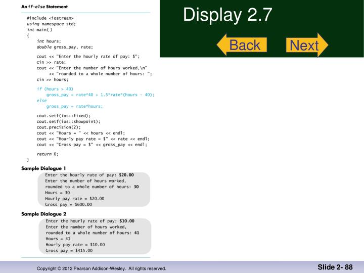 Display 2.7