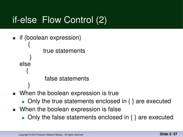 if-else  Flow Control (2)