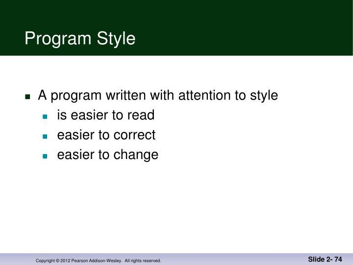 Program Style
