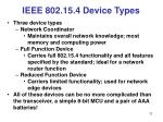 ieee 802 15 4 device types