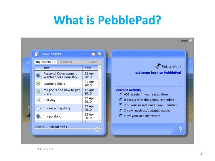 What is pebblepad