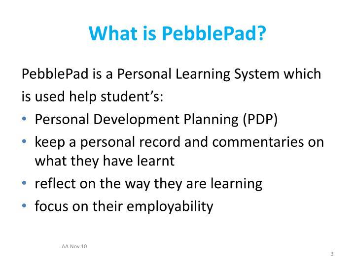 What is pebblepad1