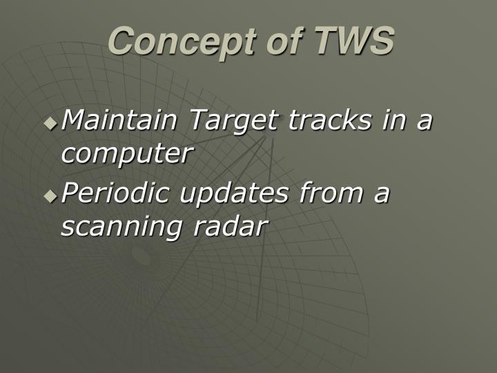 Concept of TWS