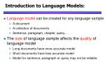 introduction to language models