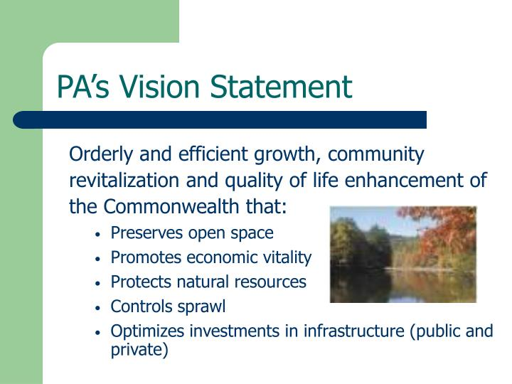 PA's Vision Statement