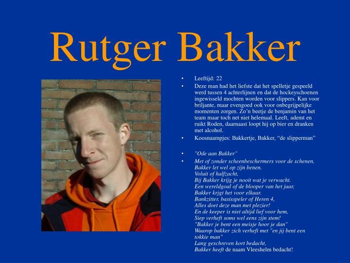 Rutger Bakker