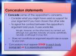 concession statements