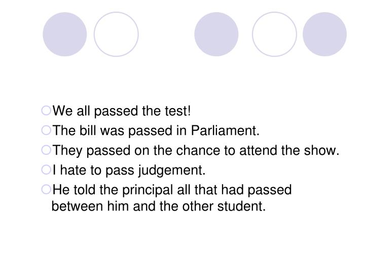 We all passed the test!
