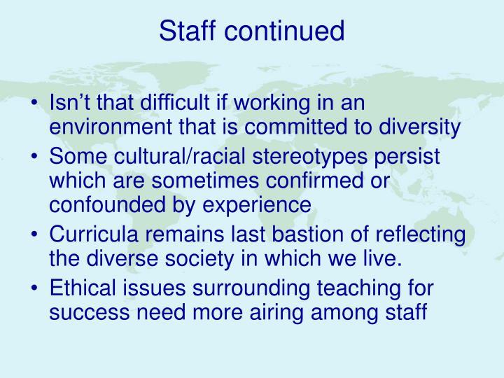 Staff continued