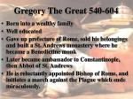 gregory the great 540 604