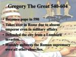 gregory the great 540 6041