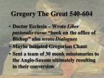 gregory the great 540 6042