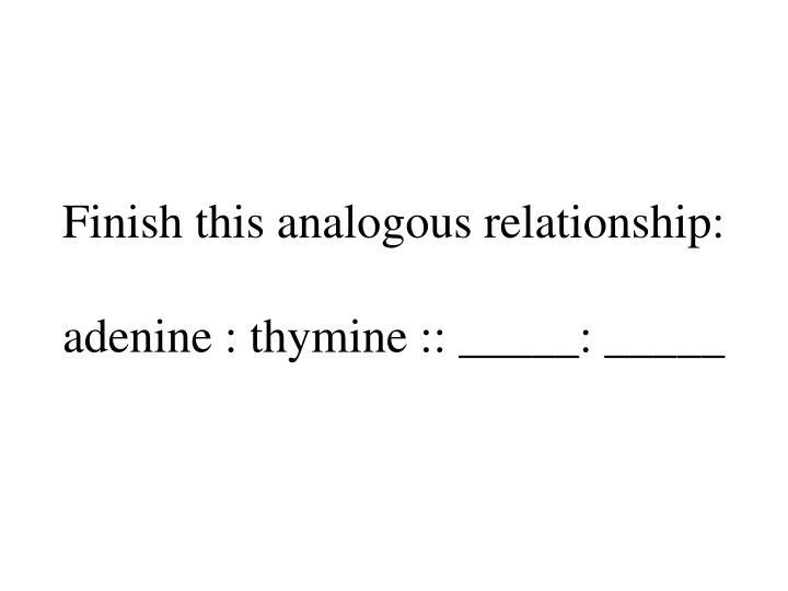 Finish this analogous relationship: