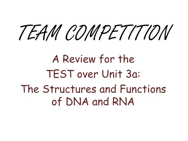 Team competition
