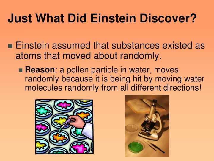 Just What Did Einstein Discover?