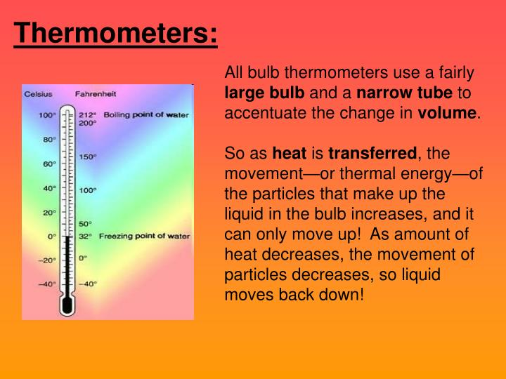 Thermometers: