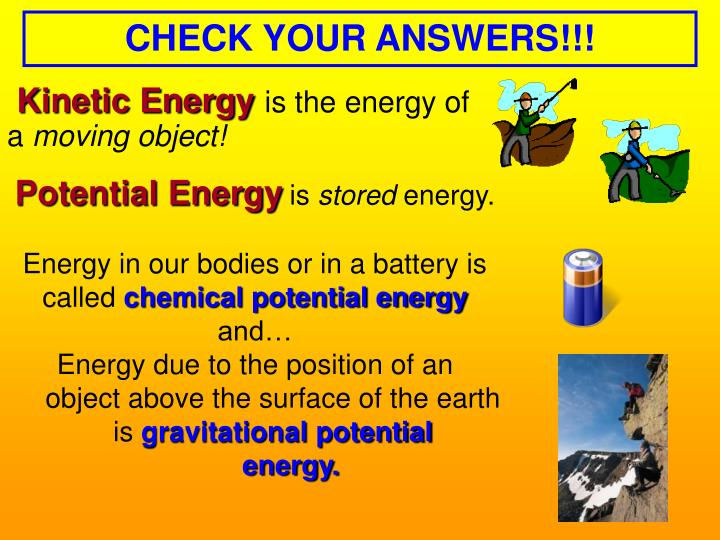 CHECK YOUR ANSWERS!!!