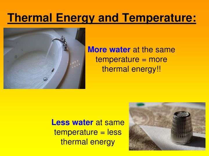 Thermal Energy and Temperature: