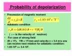 probability of depolarization