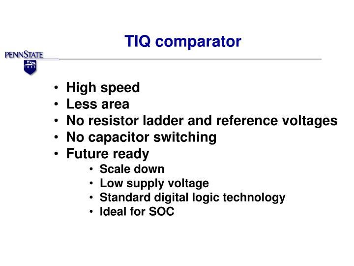 TIQ comparator