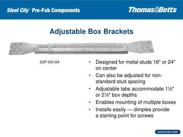 Adjustable Box Brackets