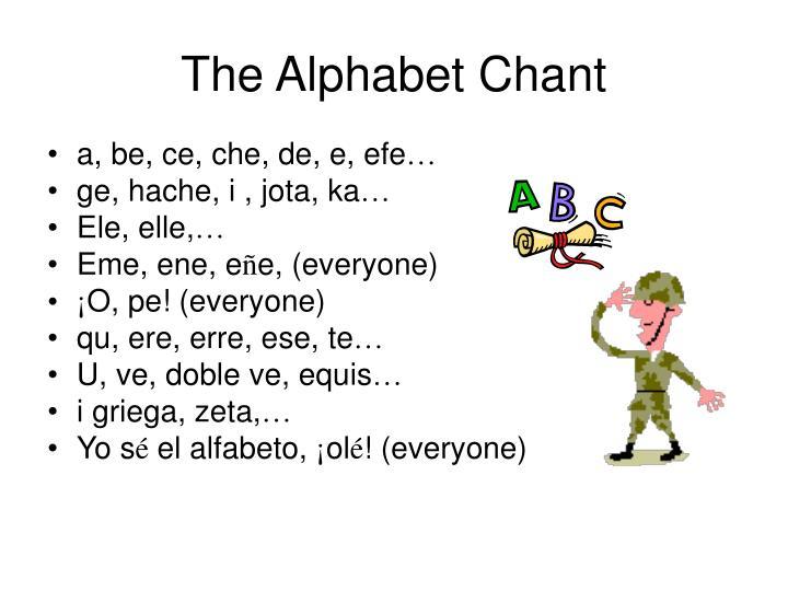 The Alphabet Chant
