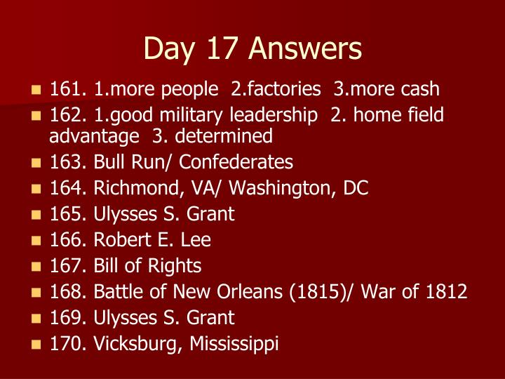 Day 17 Answers
