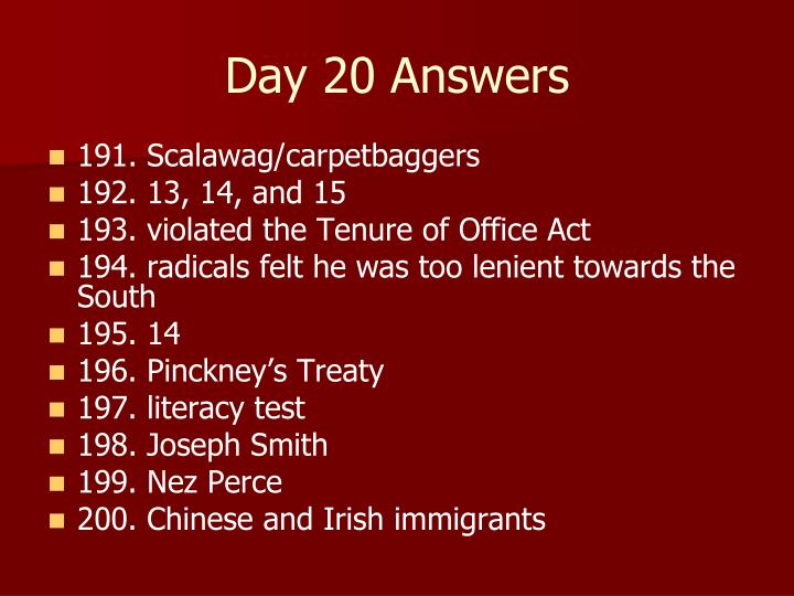 Day 20 Answers
