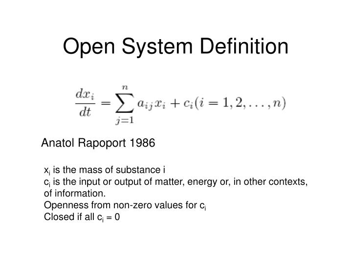 Open System Definition