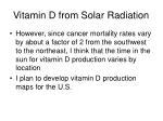 vitamin d from solar radiation