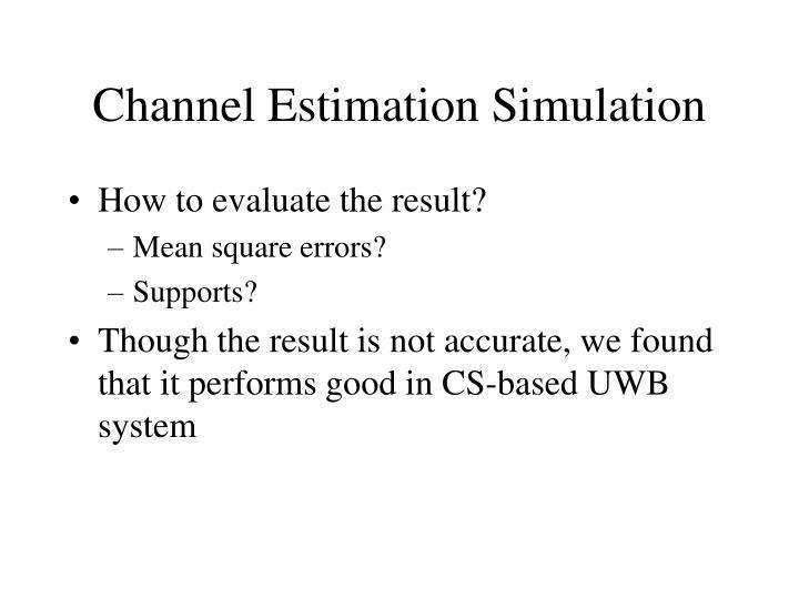 Channel Estimation Simulation