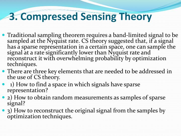 3. Compressed Sensing Theory