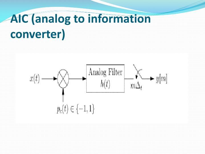 AIC (analog to information converter)