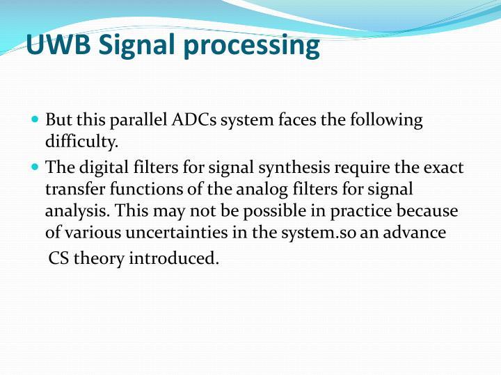 UWB Signal processing