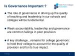 is governance important
