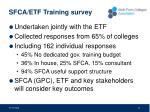 sfca etf training survey