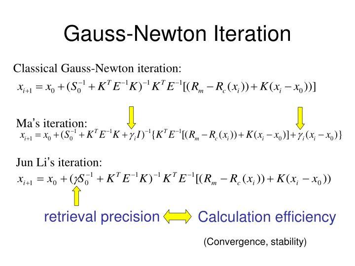 Gauss newton iteration