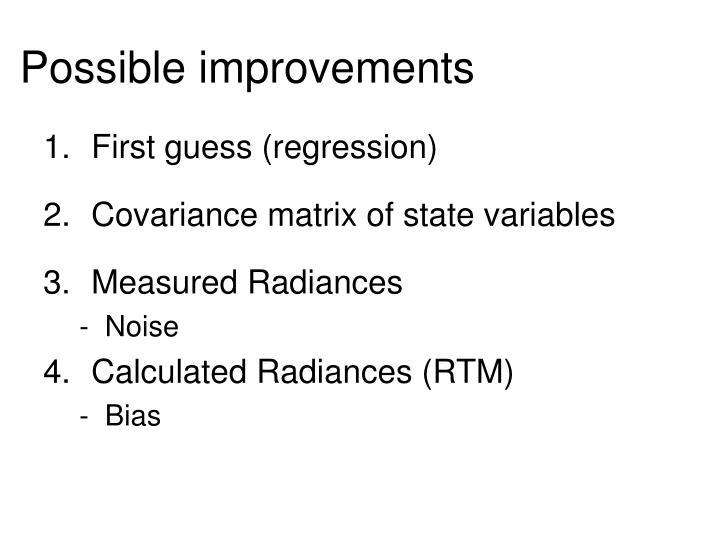 Possible improvements