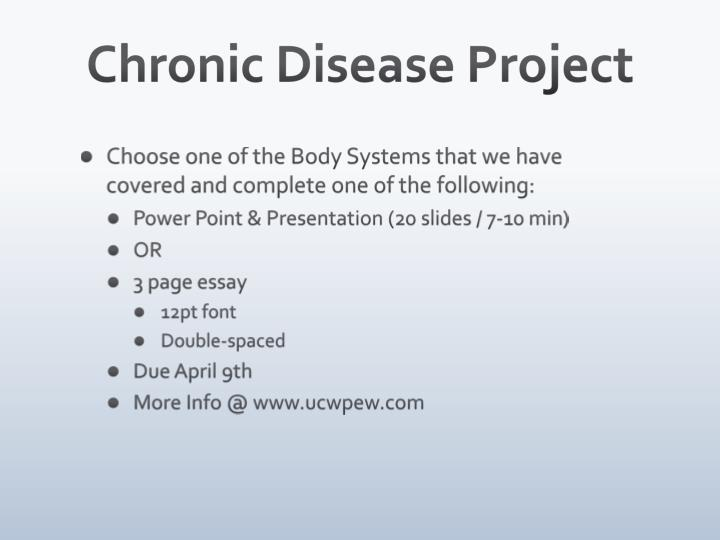 Chronic Disease Project