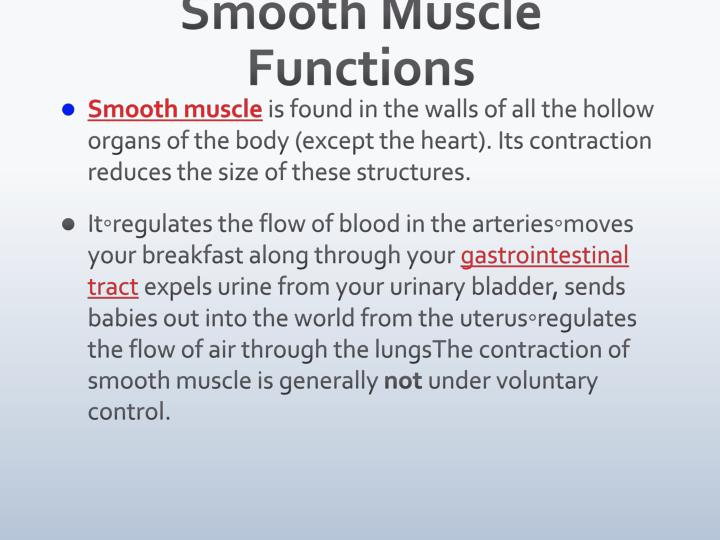 Smooth Muscle Functions