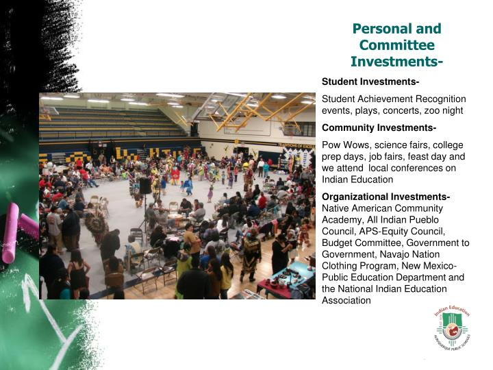 Personal and Committee Investments-