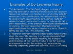 examples of co learning inquiry