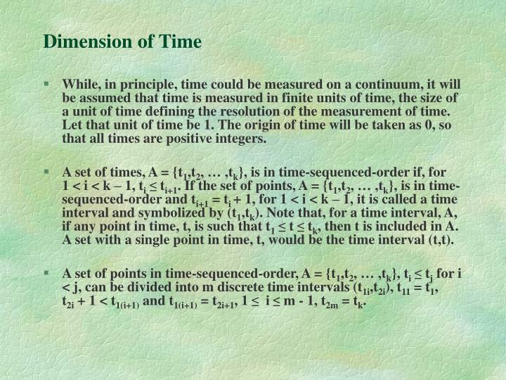 Dimension of Time